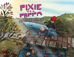 Pixie och pappa – På höstpromenad